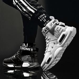 Hombres de alta moda superior de cuero zapatillas de deporte tendencia venta caliente hombre cómodo zapatos casuales al aire libre antideslizante transpirable zapatos de los hombres