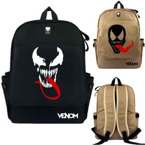 Kids Marvel Venom Backpack College School Bag Travel Laptop Bags Canvas Rucksack Bookbag Handbag Shoulderbag Satchel Knapsack
