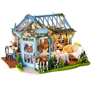 Cutebee Diy Dollhouse Wooden Doll Houses Miniature Doll House Furniture Kit Casa Music Led Toys For Children Birthday Gift A68d Y19070503