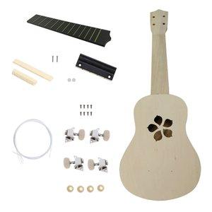 Assembléia Toy 21 polegadas Ukulele Hawaii guitarra DIY Kit Crianças para iniciantes Amador