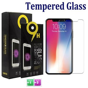with paper package for Apple 11 Pro Max XS Max XR 8 7 Plus Samsung A10E A20 LG Stylo 5 K40 Tempered Glass Screen Protector 0.33mm 2.5D 9H