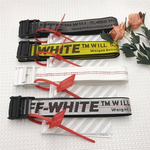 Off White Belts Amarelo cinturão industrial Thicken Designer cintos de lona para homens e mulheres Hip Hop Belt Rua Casual cinto gg solto Strap cintura