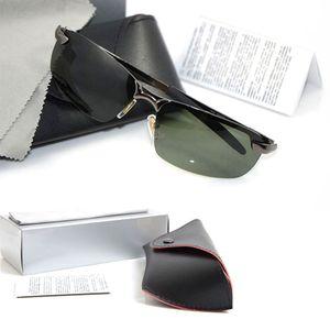 10 stücke Hohe Qualität Polarisierte Marke Sonnenbrille Sun Herren Designer Glassess Womens mit Metall Marke Designer Sun Original Gläsern Brille KJGA