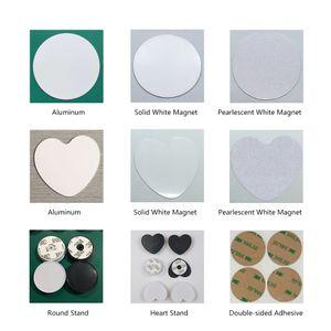 Transferencia de calor de sublimación de impresión DIY Kit de soporte de dedos ampliable Airbag soporte del teléfono anillo del sostenedor del apretón de aluminio imán inserciones Adhesivo