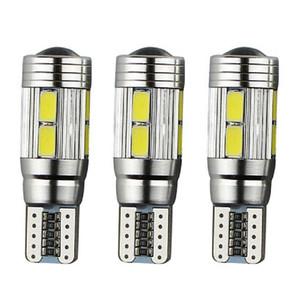 100PCS haute qualité T10 10 SMD 5630 LED CANBUS NO ERROR Auto lampe Wedge 192 194 168 W5W 10SMD 5730 LED phare de voiture Ampoule