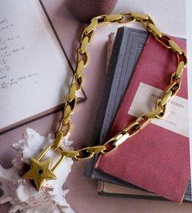 Vintage Goldkette Schlüsselbein Kette weiblichen Verschluss kurzen Absatz Anhänger Halskette Mode Accessoire Geschenk