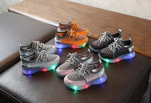 LED Kids Sneakers Breathable Glow Boys Girls Sport Shoes Children Casual Sneakers Baby Running Shoes Mesh Canvas