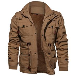 3 Farben Herren Jacken Art und Weise plus Samt-Washed Baumwollbeiläufiges verdicken Streetoutdoorjacke Motorrad-beiläufige Art und Weise Outwear