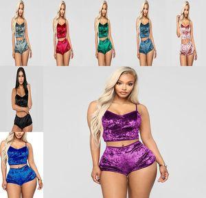 8 pijamas señoras determinadas cortocircuitos atractivos arco camisola grande de traje de pijama tamaño del conjunto sólido de color de alta calidad Textiles para el hogar DHC124