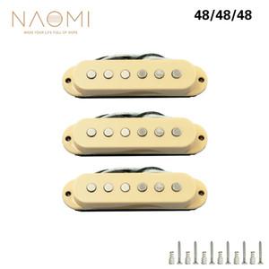NAOMI 48mm Gitar Pickup 3 ADET Tek bobin Gitar Pickup Boyun / Orta / Köprü Elektro Gitar Için Yüksek Kalite