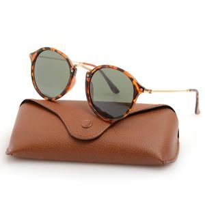 Hohe Qualität der neuen Art-2447 Mans Sonnenbrille Womans Sonnenbrille Harz Objektiv Mode-Marken-Entwerfer-Sonnenbrille Unisex Gläser mit Fall und Kasten