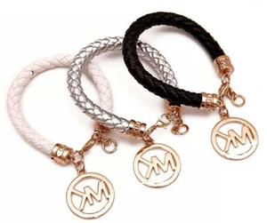 HOT Moda pulseiras de crianças artesanais de jóias retro PU pulseira de couro dos homens senhoras moda pulseira homens e mulheres de jóias 6 PCS /