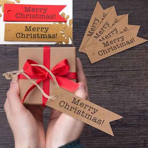 Etiqueta del regalo de Navidad 100PCS Candy Bag Box Tarjeta colgante del arte del regalo de la decoración del árbol de Craft Paper Label
