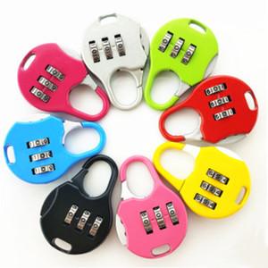 Mini Cadeado Para Backpack Suitcase Stationery Password Lock Student Crianças Outdoor Viagem Gym Locker Segurança metal Cadeado DBC BH3538