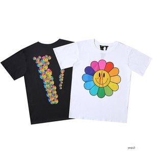 vlone big V hommes concepteur t-shirt d'été de tournesol série de mode T-shirt à manches courtes populaire lâche polyvalent pour les hommes et les femmes