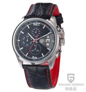 Marca multifunción de cuarzo cronógrafo de los hombres del reloj del deporte de buceo PAGANI DISEÑO hombres de los relojes de lujo 30m Casual reloj Relogio Masculino