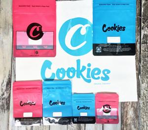 쿠키 가방 캘리포니아 SF 8 일 3.5G 마일 라 (Mylar) Childproof 포장 28g의 재 밀봉 지퍼 Vape 카트리지 패키지