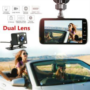 """Vente en gros H30 voiture DVR 4"""" Mini DVR voiture double lentille enregistreur vidéo Parking voiture caméra Full HD 1080P WDR Dash Cam Night Vision Auto Black Box"""
