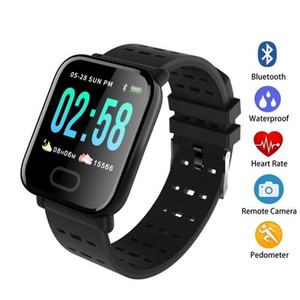 A6 Fitness Tracker Wristband Smart Watch Color Touch Screen Water Resistant Smartwatch Phone with Heart Rate Monitor