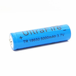 UltreFire 배터리 18650 5000MAH 3.7V 충전식 리튬 배터리 야외 손전등 배터리 무료 배송