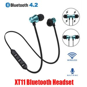 XT11 Bluetooth Headphones Magnetic Wireless Running Sport Earphones Headset BT 4.2 Mic MP3 Earbud For LG Smartphones With Retail Package