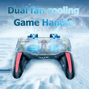 PUBG Mobile Controller Gamepad With Cooler Cooling Fan For iOS Android For Samsung Galaxy L2R2 Joystick No Battery Plug and play with 2fans