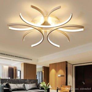 Moderno Led soffitto superficie luci alluminio onda di bianco montato Luster Avize illuminazione 110V-220V per Camera da letto Soggiorno