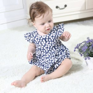 Recém-nascido Crianças Baby Girl Flor Macacão Romper Outfits Criança Meninas Bebê Princesa Roupas de Verão Sem Mangas Macacão Playsuit Top