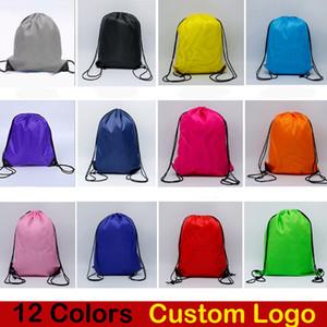 12 Stile di Colore Della Caramella Drawstring Bag 210D Poliestere panno sport palestra danza durevole Zaino Abbigliamento Per Bambini Scarpe Borse Logo personalizzato DHL libero M34F