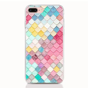 Для LG Stylo 5 4 3 V40 V30 V20 Mini G7 G6 G5 G6 Mini Q6 Q7 Q8 K7 ThinQ Soft TPU Шаблон печати Геометрическая картинка Высококачественные чехлы для телефонов