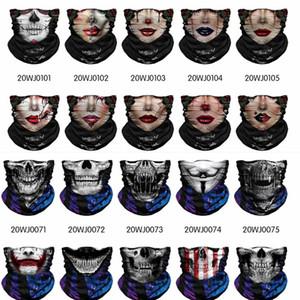 Spor Headwears Bandana UV Magic Eşarp Holloween Kafatası Yüz multifuction Bisiklet Motosiklet Kayak CS Bantlar Sihirli Atkılar Maske koruyun