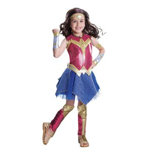 Wonder Woman Costume per i bambini superher costumi per Halloween di ruolo Costumi Fantasia partito di Cosplay Body Superman