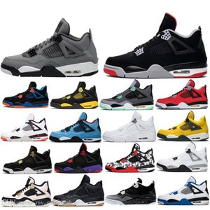 2019 4 Cool Grey WHAT THE 4S BRED Basketball Shoes White Cement Pure Money Men Black Cat TORO BRAVO Royalty Motorsports Sports Sneaker