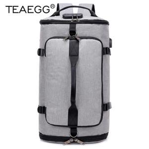 TEAEGG estilo de viaje de gran capacidad Mochila Hombre equipaje de hombro del bolso del ordenador con mochila de los hombres funcionales versátiles Bolsas
