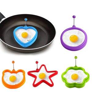 Herramientas molde de silicona del huevo frito Huevo del desayuno de la crepe del molde del huevo que fríe con mango de acero inoxidable cocina del restaurante utensilios de cocina