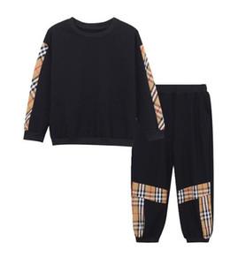 erkek kız pantolon çocukları sweatshirt'ü marka etiketi eşofman çocuklar mont pantolon 2 adet / setleri çocuk giyim sıcak satış yeni moda ilkbahar sonbahar