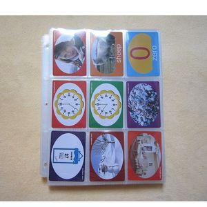 10страниц-100страниц выбор, 9-карманный Clear Series Card Album Page / Binder Protector Mtg TCG Yu-Gi-Oh Card Binder Pages