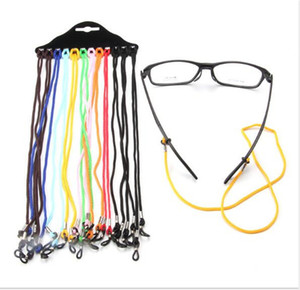 12 개의 미끄럼 방지를위한 12 피스 mmuti-color 키즈 안경 스트링 readingglasses 목선 코드 리테이너 스트랩 좋은 실리콘 루프 freeshipping