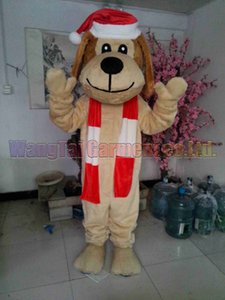 New Christmas Dog mascot costume Top grade deluxe cartoon character costumes Puppy mascot suit Fancy dress party carnival Free Shipping