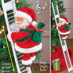 Musica elettrica scala di risalita Babbo Natale Figurine ornamento partito Xmas Tree fai da te Crafts Festival Navidad 2020 regalo del giocattolo del capretto C112205