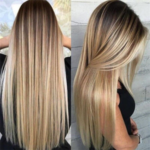 New Synthetic Long Light Hair Hombre Blonde Parrucca Bionda Resistente alle parrucche piene per le donne Spedizione gratuita