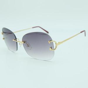Gafas de lujo al por mayor y de gran tamaño para hombre Diseñador Moda Tendencias Productos 2018 Gafas de sol de alta calidad sin montura Sunglass grandes