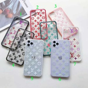 Luxury Fashion Clear Phone Case For IPhone 11Pro 11 Pro Max X XS XR 8Plus 8 7Plus 7 6 6s TPU Brand Cases Back Cover Anti-shock shell