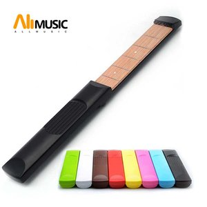 Portable Pocket Acoustic Guitar Practice Tool Guitar Parts Gadget Chord Trainer 6 String 4 or 6 Fret Model for Beginner