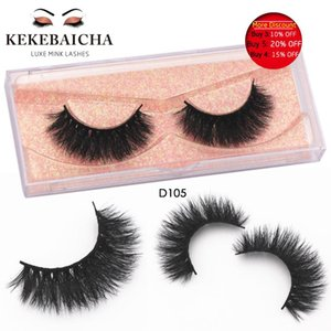 KEKEBAICHA Thick Long Mink Lash Crisscross Eyelashes Handmade Full Strip Lashes Fake Lashes Fuller Lash Dramatic D105 maquiagem