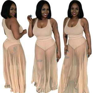 Hy5051 cross border Amazon lazada popular European and American sexy mesh transparent bikini Skirt Set