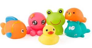 طفل أطفال الاستحمام اللعب الحيوان السباحة لعب حمام الماء لعبة مضحك لينة المطاط تعويم رذاذ الماء