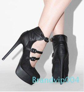 Fashion2019 Code Round Will Head Waterproof Platform Belt Buckle Woman Fine With Single Shoe Shoes