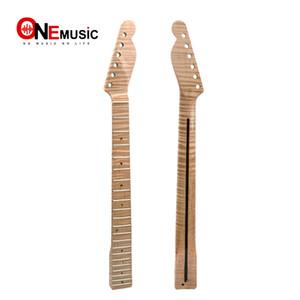 21 프렛 타이거 플레임 메이플 기타 넥 교체 메이플 TL 일렉트릭 기타 목 전복 점 자연 광택