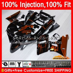 Injection Pour KAWASAKI ZZR400 ZZR400 99 00 01 02 03 04 05 06 07 85HC7 ZZR 400 vente d'Orange 1999 2000 2001 2002 2003 2004 2005 2007 Carénage
